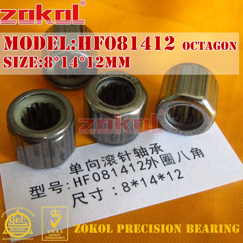 ZOKOL Bearing HF081412 EWC0812 Outer Ring Octagon One Way Needle Roller Bearing 8*14*12mm Knurled Hexagon
