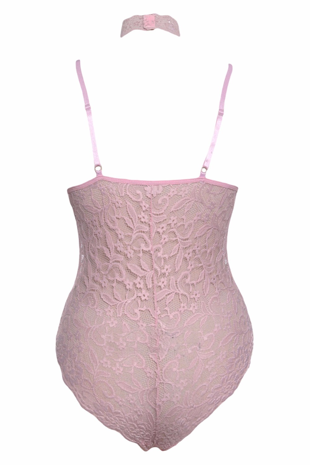Pink-Sheer-Lace-Choker-Neck-Teddy-Lingerie-LC32139-10-3