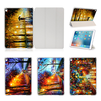 Oil Painting Case For Apple IPad Pro 9 7 12 9 Cover With Sleep Wake UP