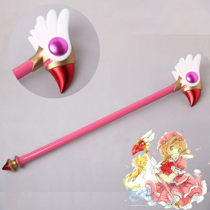 Anime nouvelle carte Captor Sakura tête d'oiseau étoile magique bâton baguette aves Cosplay accessoire Porp pour Halloween Cosplay jouets cadeau