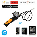 Eyoyo HD 720P Wireless WIFI Endoscope Inspection Snake Camera 2.0 Mega Pixels 1M/3M Cable 8.5mm 6 LED 2.4GHZ Borescope Android