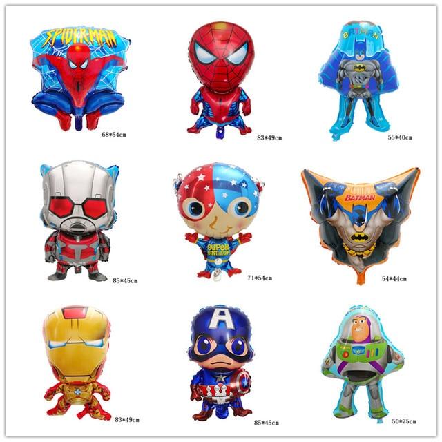 1 PC Superhero Avengers Ironman Spiderman Balão de alumínio Balões para Crianças de Aniversário Do Bebê Chuveiro Decoração Suprimentos Bola De Ar Brinquedo Globos