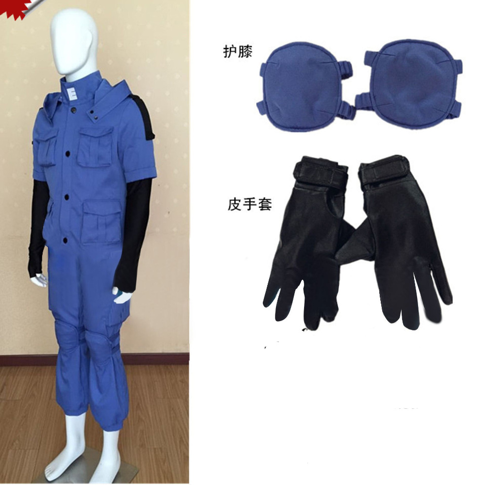 Assassination Classroom Ansatsu Kyoushitsu Shiota Nagisa Blue Battle Suit Uniform Cosplay Costume Full Set