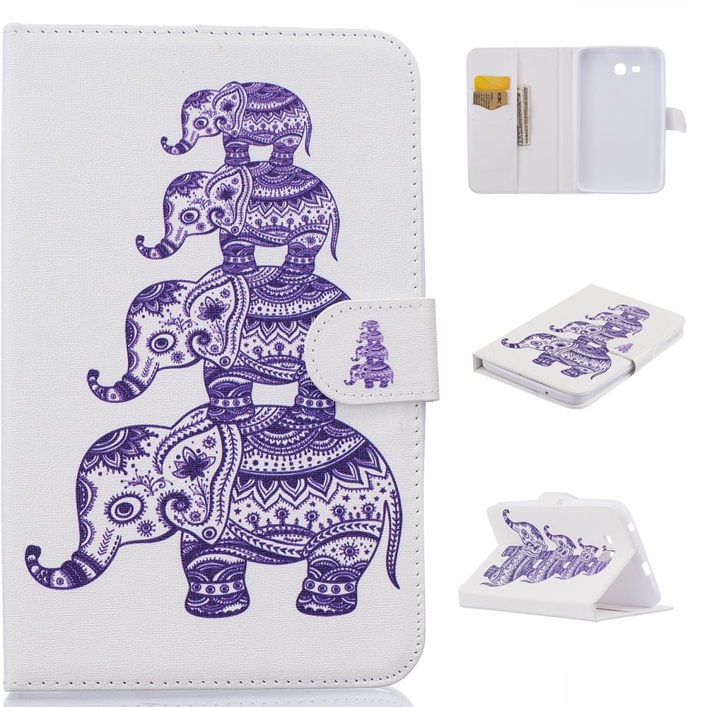 For Case Samsung Galaxy Tab E T560 Elephone Smart Stand Tablet PU Leather Case Cover For Galaxy Tab 4 T230 T530 Tab 4 T350 T550