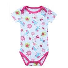 2016 New Fashion Baby Boys Girls Pajamas Cool Summer Children Animal funny animal Print Horse Pajamas 0-12M Baby Sleepwear