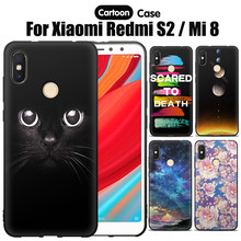 JURCHEN Funda Capa For Xiaomi Redmi S2 Case Silicone Back Coque For Xiaomi Mi 8 Mi8 M8 Cute Cartoon Phone Case For Redmi S2 Case(China)