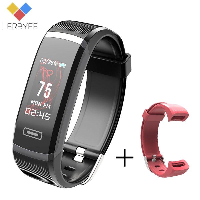 LERBYEE GT101 Color Screen Smart Band Sleep Monitor Fitness Tracker Heart Rate Monitor Men Watch Black Activity Tracker