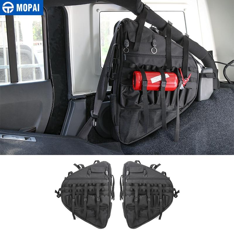 MOPAI Porta Lateral Do Carro Saco De Armazenamento Anti-Roll JL Estiva Tidying para Jeep Wrangler 2018 + Acessórios Interiores Do Carro styling