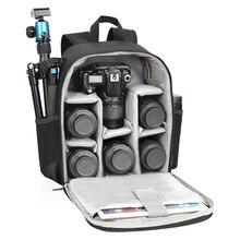 Sac à dos Photo multifonction en Nylon sac Photo numérique DSLR étanche pour appareil Photo extérieur pour Nikon/Canon XA149K