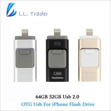 Ll händler 5 teile/los otg usb-stick 64 gb 128 gb für iphone ipad ipod android ios flash drive speicher pendrive memory mini disk