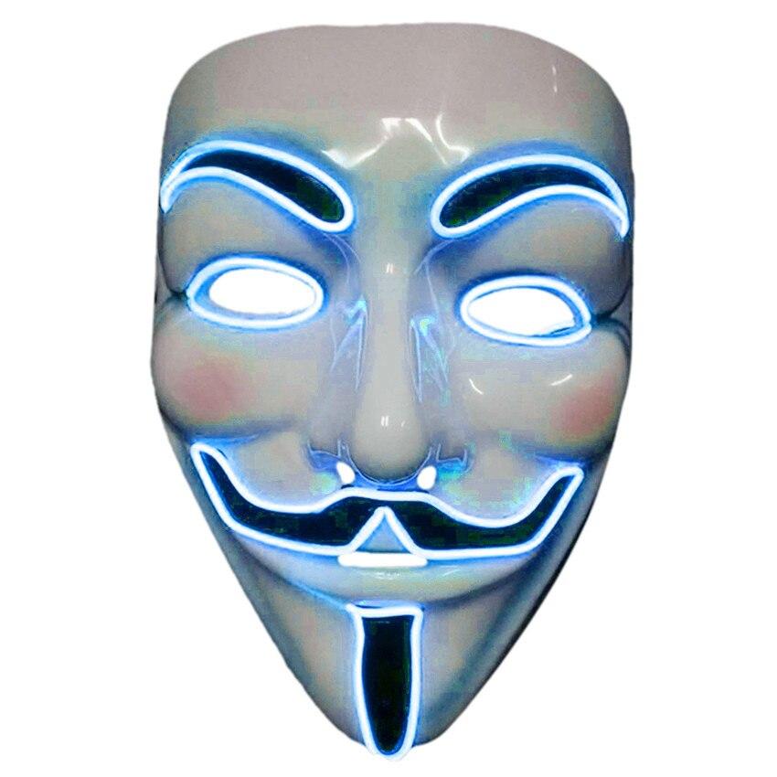 Mascara Do Partido Cosplay Luz El Engracado Palhaco Palhaco