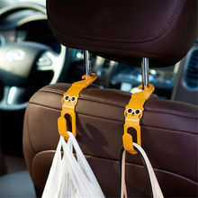 2Pcs/lot Cute Cat Car Back Seat Hanger Storage Hook Car Accessories Sundries Hanger Organizer Holder(China)