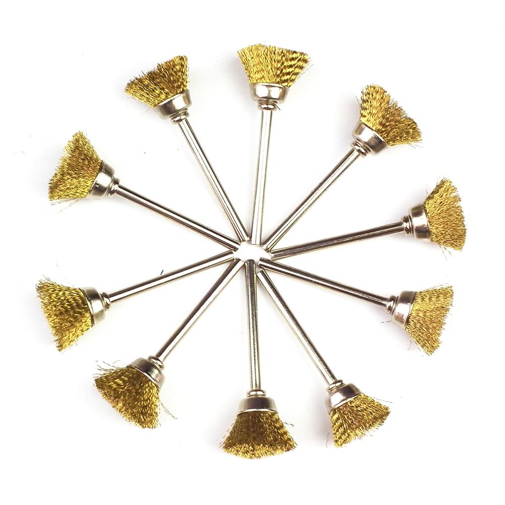 10pcs cepillo de alambre de acero herramientas dremel accesorios - Herramientas abrasivas - foto 3