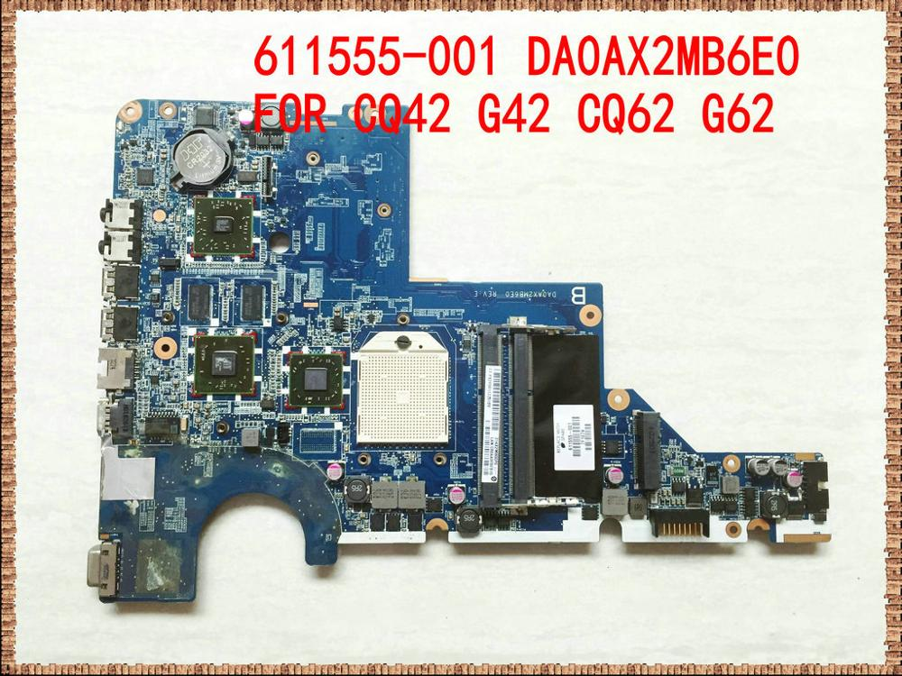 611555-001 for hp CQ42 G42 CQ62 G62 DA0AX2MB6E0 Laptop Motherboard CQ42-227AX CQ62Z-200 NOTEBOOK non-integrated graphics card image