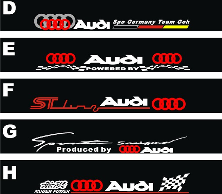 Free Shipping Automobile Label Car Racing Stickers For AUDI Front - Front window stickers for car