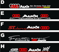 Free shipping Automobile label car Racing stickers for AUDI  Front windshield stickers for front window