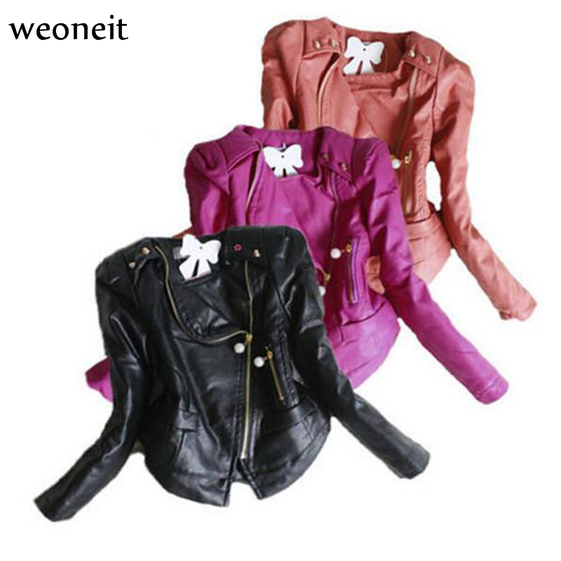 Faux leather jacket for toddler girl