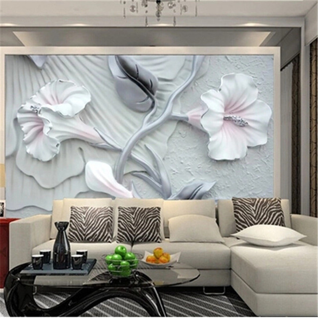 custom 3d photo wallpaper for living room painting bedroom television wall murals pvc embossed wallpaper hotel - Wall Paintings For Bedroom