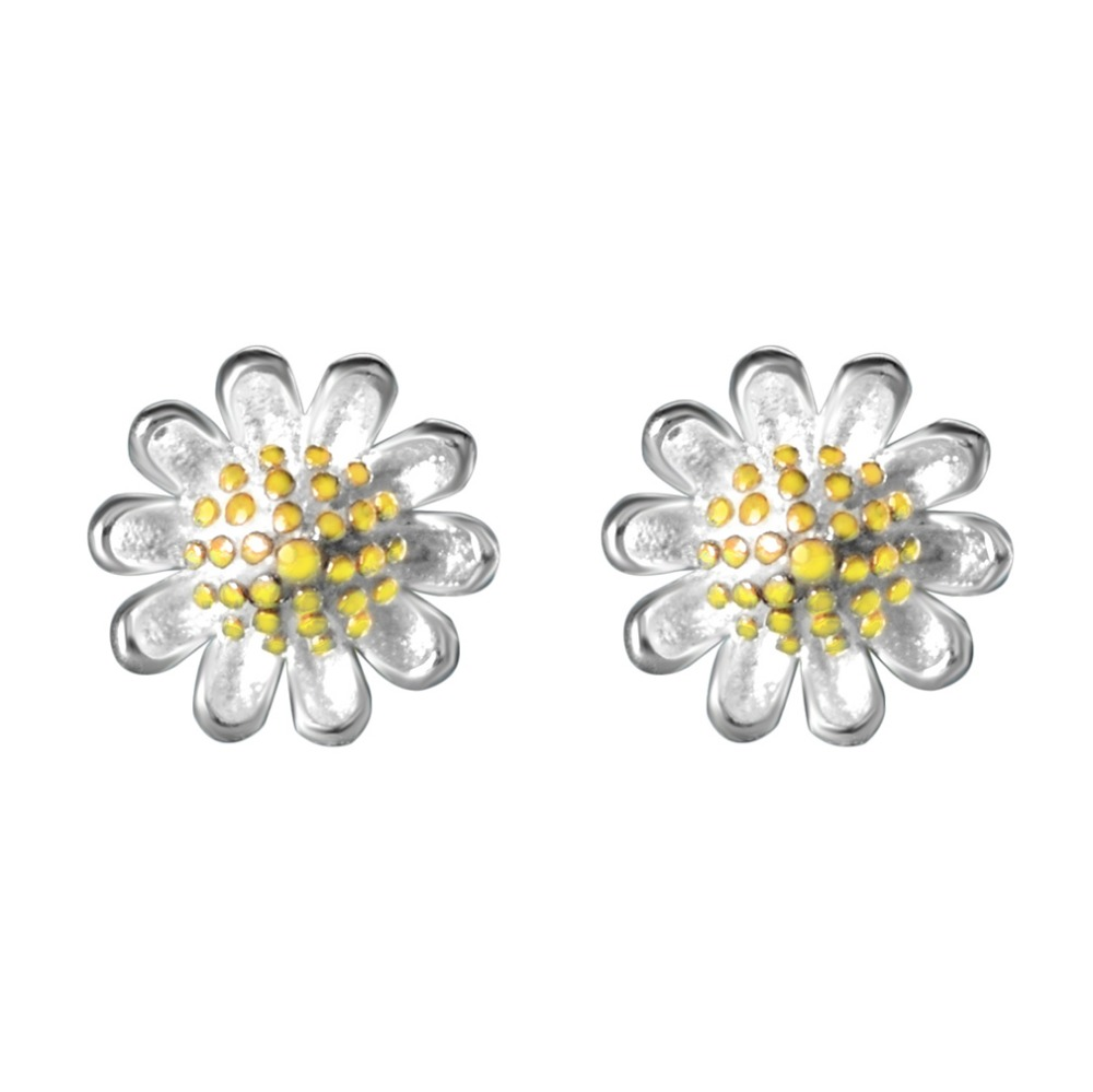 QIAMNI-Jewelry-925-Sterling-Silver-Beautiful-Yellow-Daisy-Flower-Piercing-Stud-Earring-for-Women-Girls-Wedding