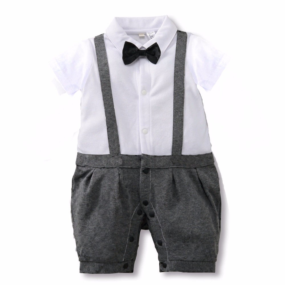 Baby Rompers 2017 New Summer Baby Boys Clothing Sets Baby Boy Clothes Infant Jumpsuits Newborn Baby Clothes Free Shipping baby boys girls rompers short sleeve infant jumpsuits summer kids clothing sets cartoon newborn baby clothes for 0 12 month