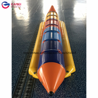 Free air pump High quality inflatable banana boat 6 person inflatable flying fish banana boat floating water towable game boats
