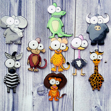 Acrylic Backpack Cute Brooch Women Men Animal Clothing 2019 Arrival Party Cartoon Hat Monkey Lion Pin Badge