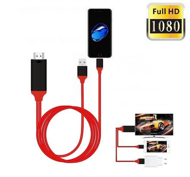 f9c34f07de7 2 M 8 Pin Cabo HDMI Para O Iphone Para HDMI HDTV TV Cabo Adaptador AV  Digital ...