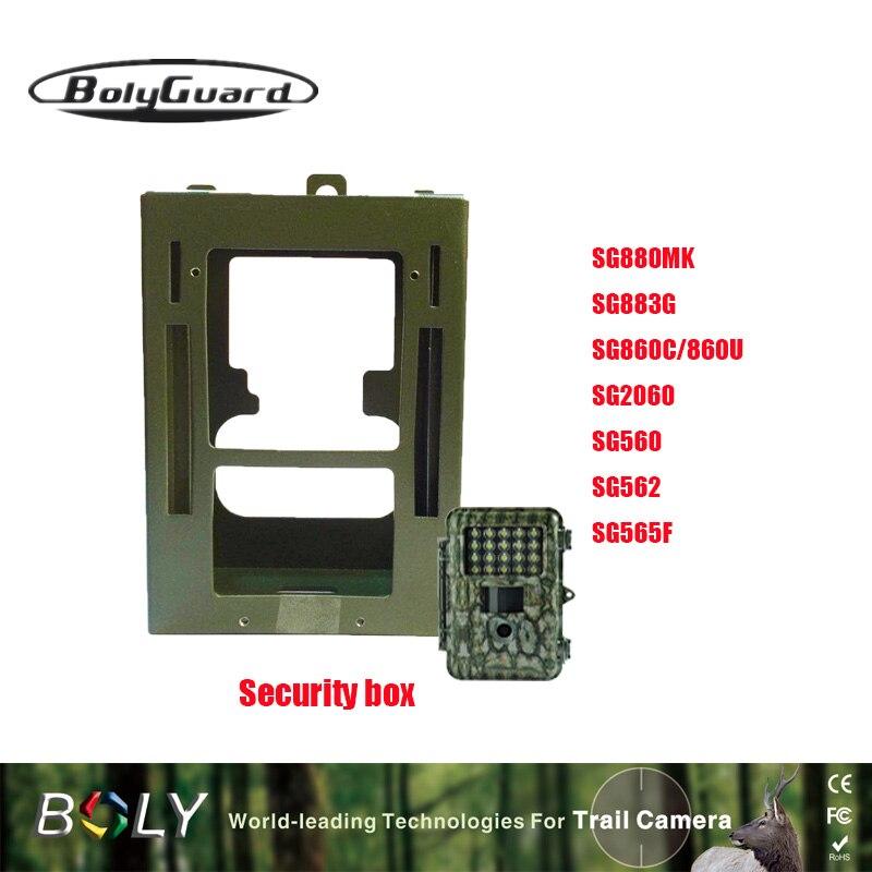 Bolyguard caméra de chasse boîte de sécurité universelle accessoires de chasse en acier inoxydable pièges photo boîte de protection