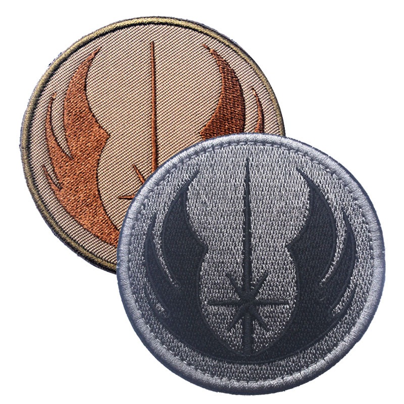The new Jedi order  STARWARS Star Wars embroidery the tactical military patches badges for clothes clothing HOOK/LOOP 7.62CM