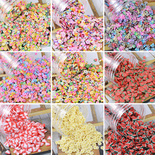 3D Multi-designs 1000 pcs/1 bag Fimo Fruit Slices Nail Art DIY Designs For Slicing Decoration PB10-1-32