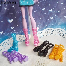 5pairs lot 2016 New Fashion Shoes For Monster High Dolls High Quality High Heel Boots Shoes