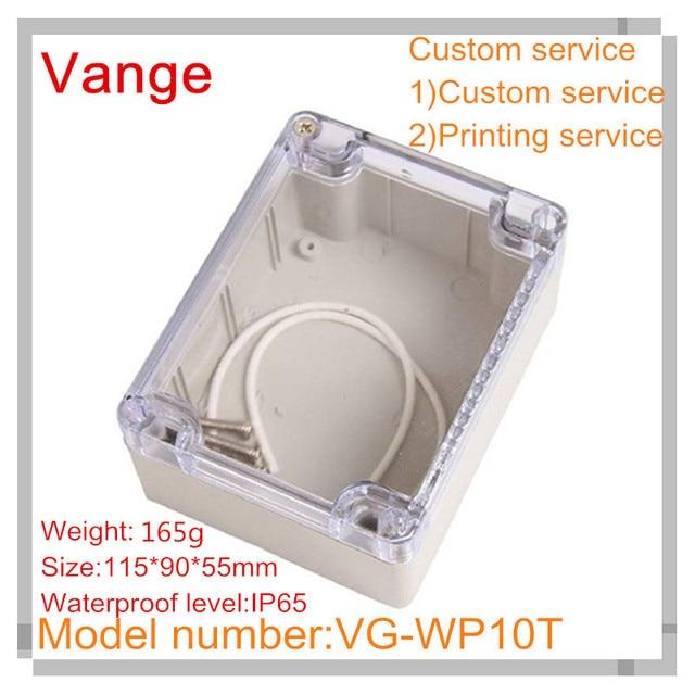 2pcs lot transparent cover abs material enclosure ip65 waterproof rh aliexpress com Outdoor Wiring Box Breaker Box Wiring