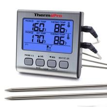 ThermoPro TP17 듀얼 프로브 디지털 야외 고기 온도계 부엌에 대 한 큰 LCD 화면 바베 큐 오븐 온도계 요리