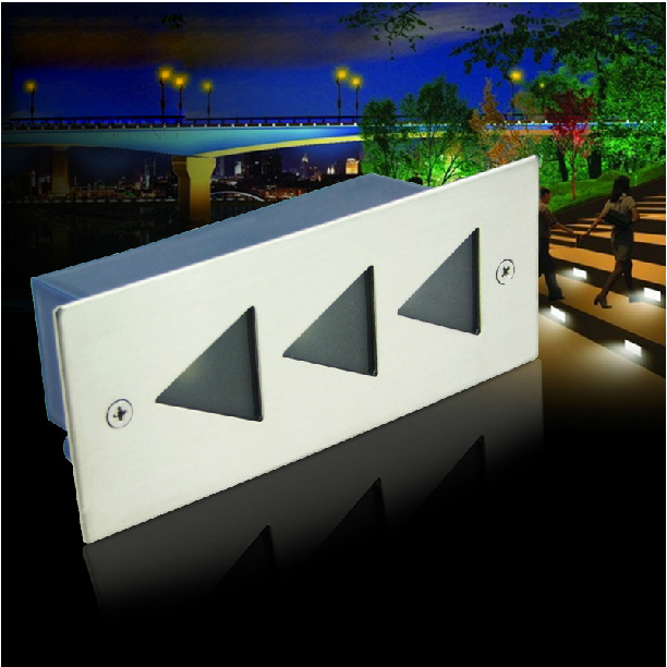LED underground Step light lamps recessed buried floor Oriented Step lamp outdoor Landscape stair lighting AC85-265V 1039 2pcs lot 36w led round underground lamps buried lighting step light led led outdoor lamps led floor light 12v ac85 265v ip67