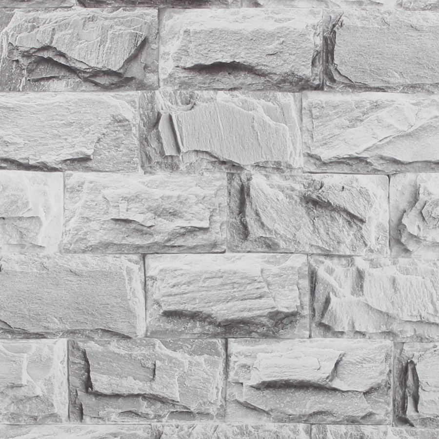 beibehang Culture Stone PVC Vinyl Thickening white brick wallpaper for walls TV background wall paper rolls Papel de parede купить