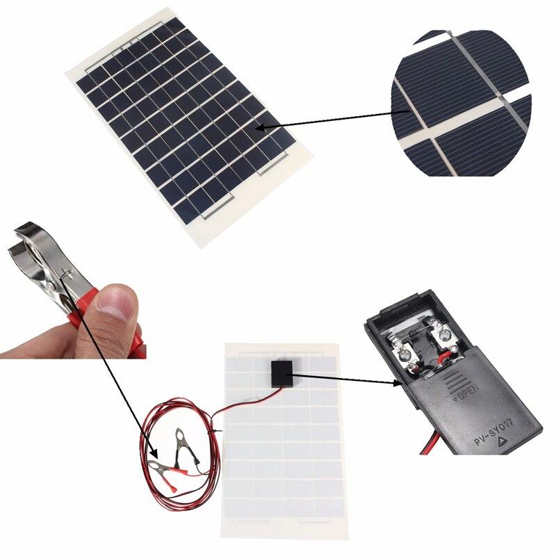 Baterias Solares diy resina epóxi transparente com Material : Silicone Policristalino