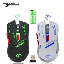HXSJ X30 nuevo USB de carga de luminiscencia juego Gamer ratón 2400DPI extraíble computadora Mouse para video juegos de PC