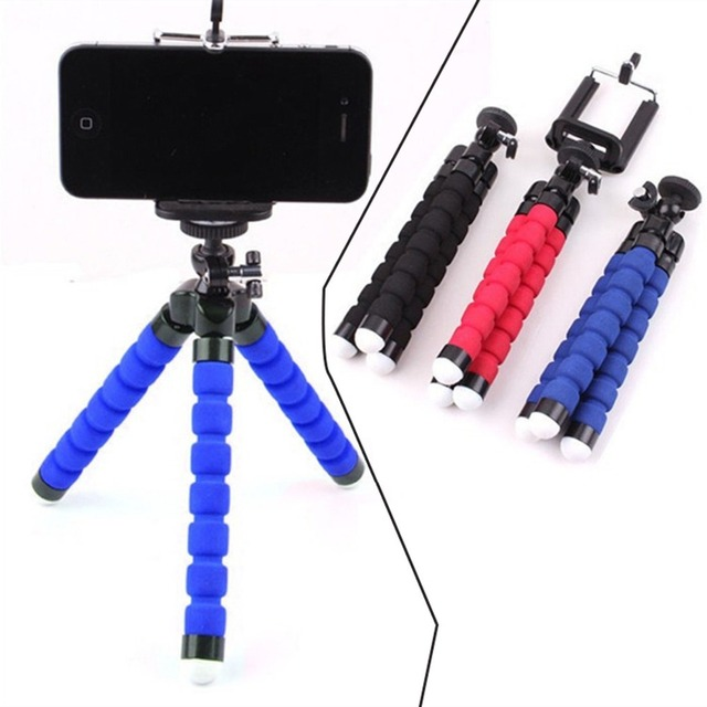 Wrumava Camera Phone Holder Flexible Octopus Tripod Bracket Stand Mount Monopod Styling Accessories For phone on-clip Camera