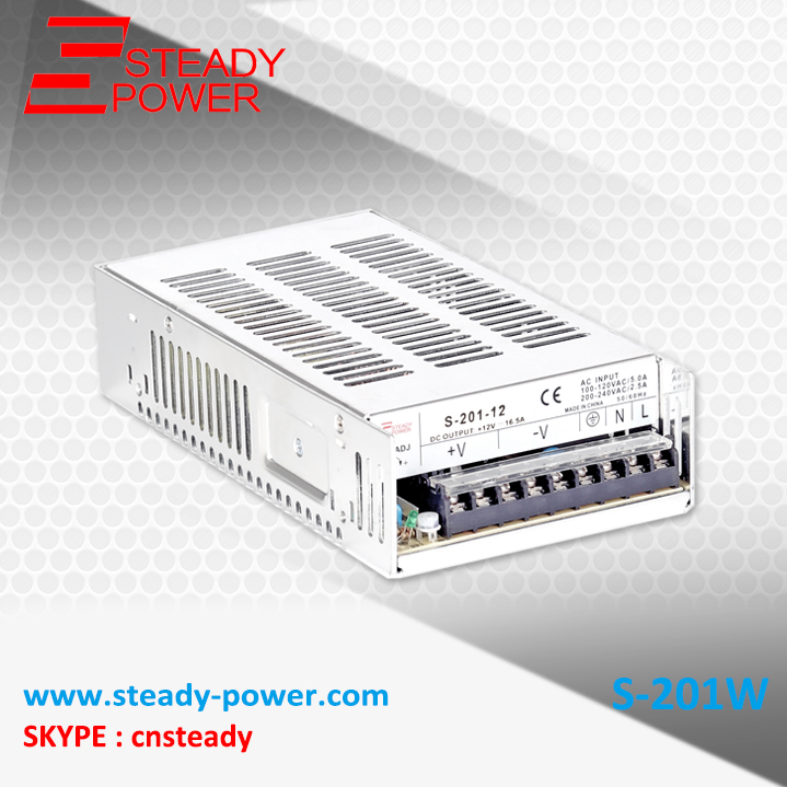 dc power supply 24v 8A 201W single output SMPS CE approved and best price S-201-24 real factory best price s 350 5 single output switching power supply ce rohs approved 5v dc output power supply