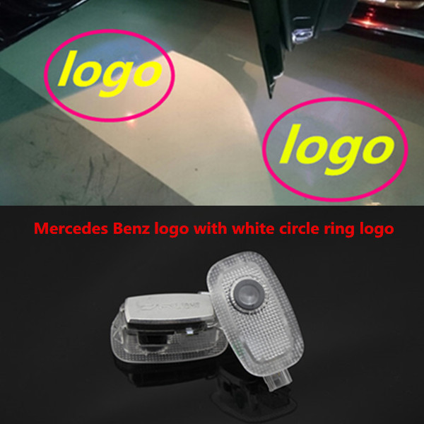 LED Door Light No Drill Error Free Ghost Courtesy Laser Projector - Car sign with nameswholesale no drill led car logo with names laser lights with car