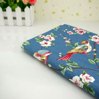 The Width Of 140cm Cotton Cloth Curtain Cloth Sofa Cloth Magpie Branches Cotton 1 4 Meters