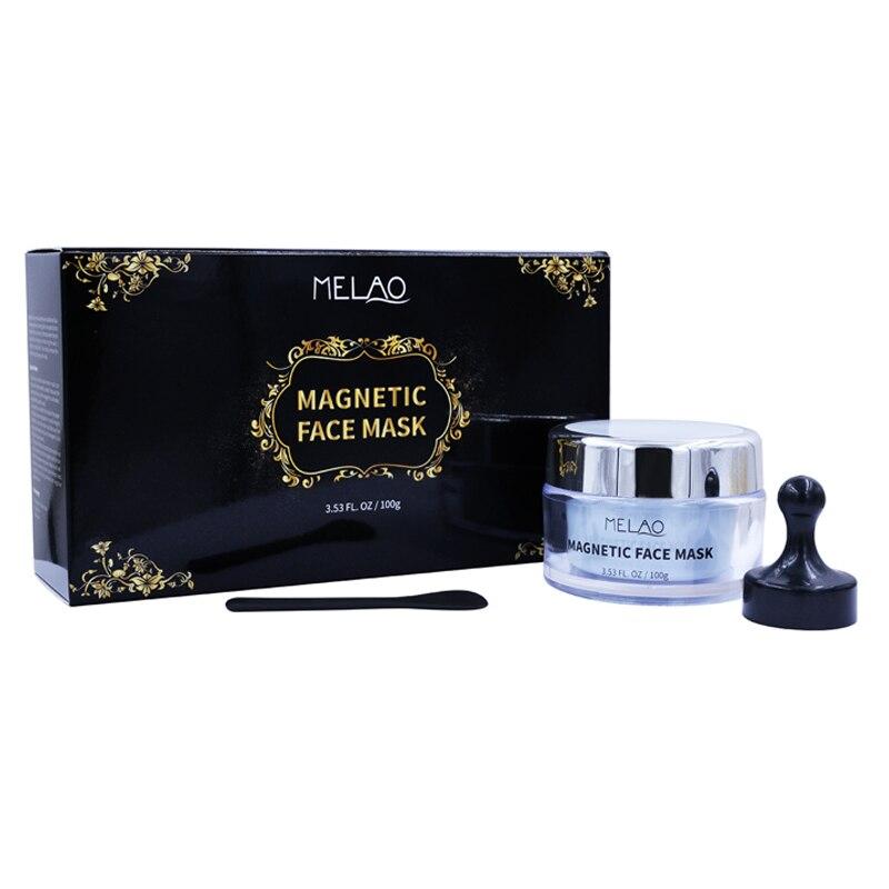 MELAO Mineral Reiche Magnet Gesicht Maske Poren Reinigung Entfernt Haut Verunreinigungen Spachtel Magnet Algen Maske