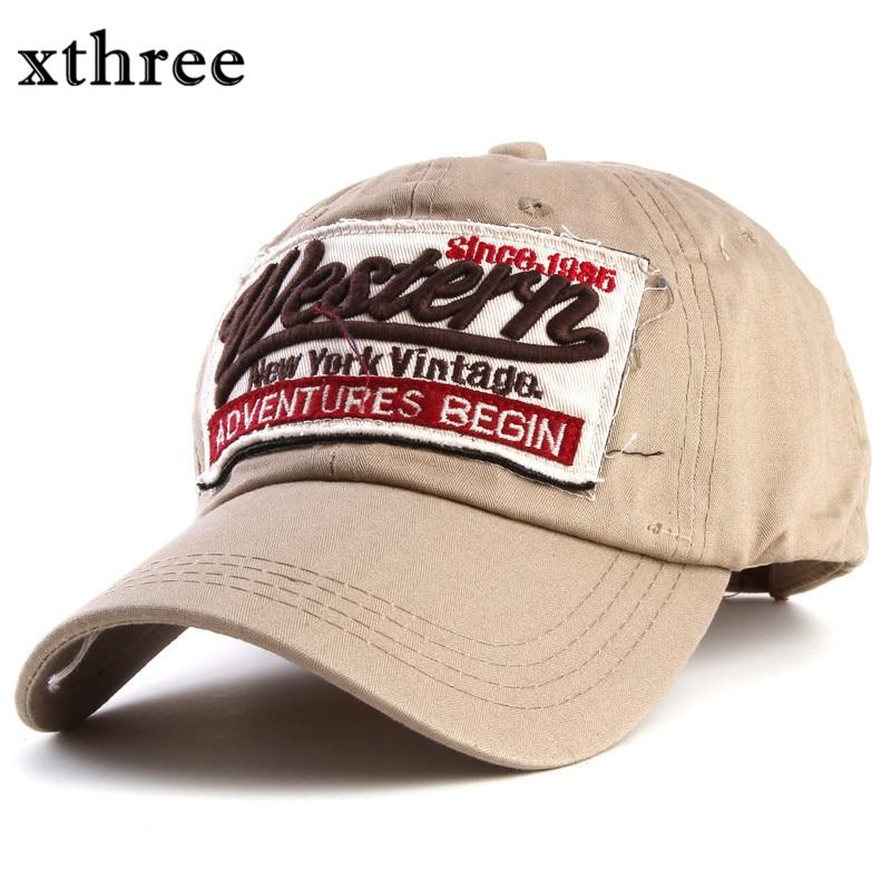Prix pour Xthree printemps marque casquette de baseball snapback chapeau coton femmes d'été chapeaux pour hommes gorras planas hombre casquette os de mode