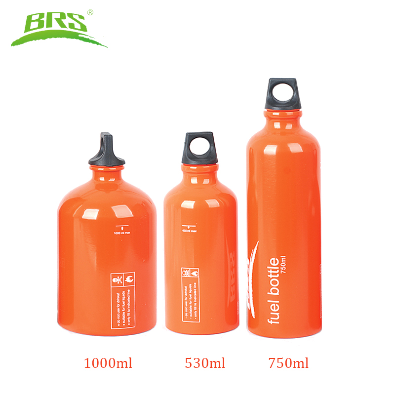 BRS Aluminum Alloy Fuel Bottle Petrol Kerosene <font><b>Diesel</b></font> Bottle Alcohol Liquid Gas Storage Bottle For Outdoor Camping Picnic <font><b>Stove</b></font>