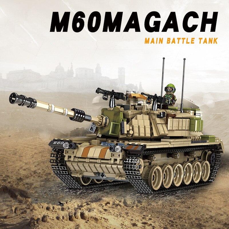Новые детские образования DIY строительный Военная сборки основной боевой танк модель Magach танков сборка модели строительных блоков игрушки