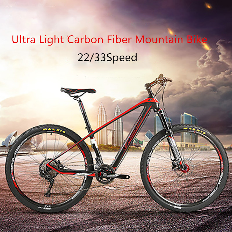 Ultra-light Fibers Mountain Bike 22 Or 33 Speed Variable Speed Off-road Mountain Bike Shock Absorption Bicycle Oil Brake