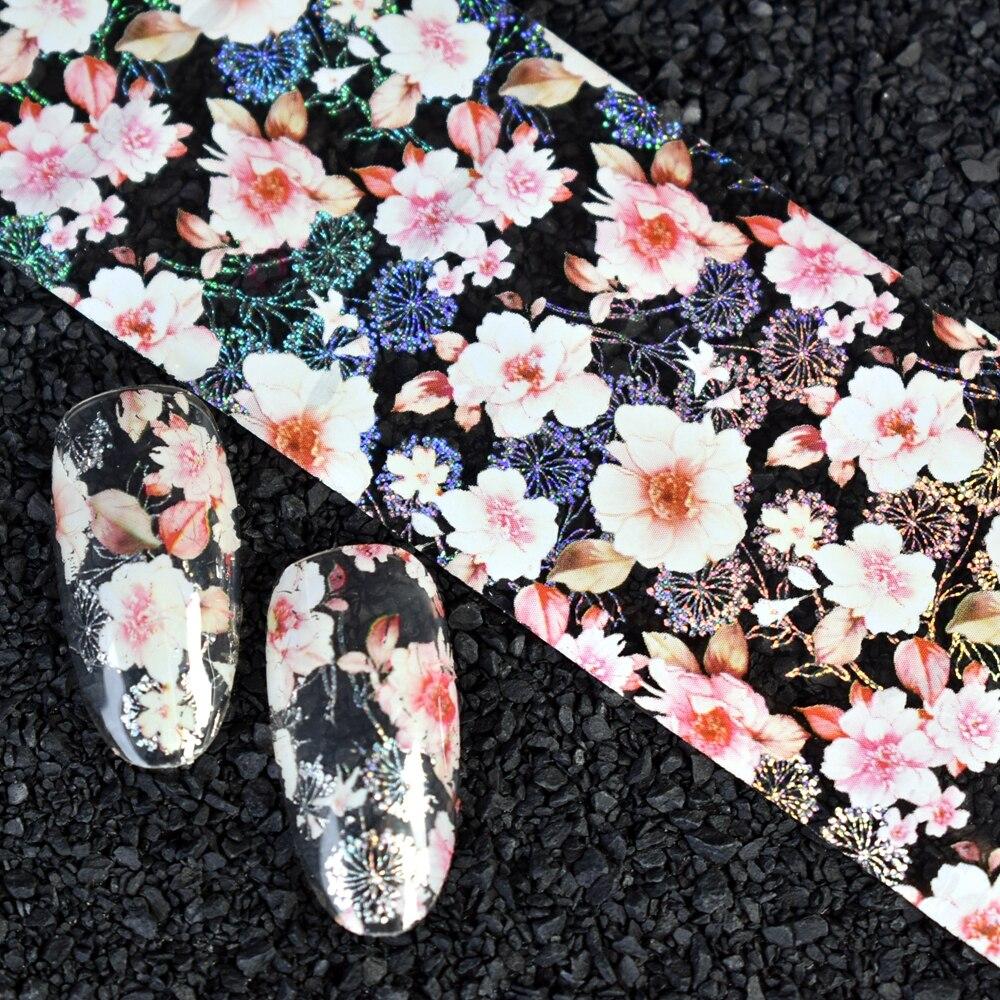 Off white blume nagel aufkleber abziehbilder Nagel DIY Design Kleber ...