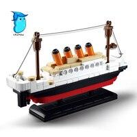 StZhou 194pcs Educational Building Blocks Sets Titanic Ship Toys Boat Model Kids Gifts Boys Birthday Gift