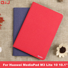 Case for Huawei MediaPad M3 Lite 10 10.1 BAH-W09 BAH-AL00 Tablet Funda PU Leather Cover Cases for Huawei M3 Lite 10 cases cover 9h tempered glass for huawei mediapad m3 lite 10 10 1 inch bah w09 bah al00 screen protector for huawei m3 lite 10 glass film