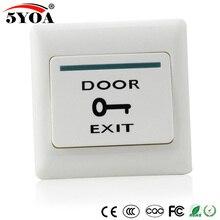 Кнопка открывания двери, кнопочный переключатель для системы контроля доступа, электронный дверной замок